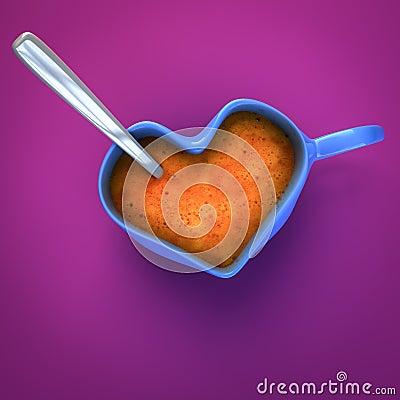 Tazza di caffè a forma di del cuore