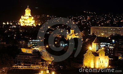 Tbilisi night view