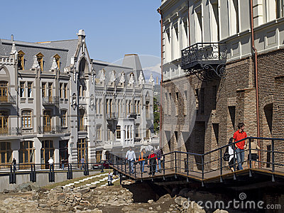 Tbilisi Old Town Editorial Stock Image