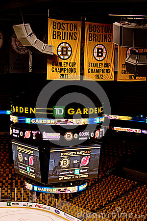 TD Garden Scoreboard Editorial Photo