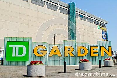 TD Garden Sign Editorial Photo