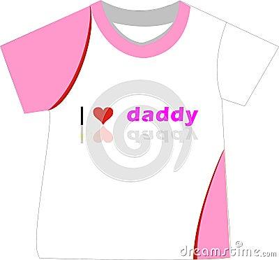 Te amo camiseta del papá