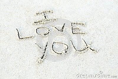 Te amo escrito en arena