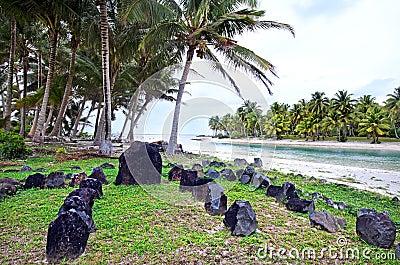 Te-Poaki-O-Rae in Aitutaki Lagoon Cook Islands