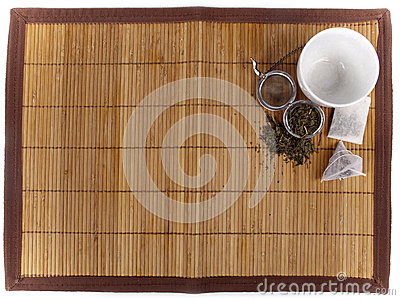 Tea background with different kinds of tea
