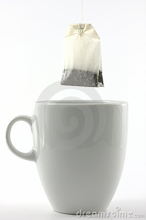 Free Tea Bag And A White Mug Royalty Free Stock Images - 4881319
