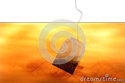 Tea bag in water
