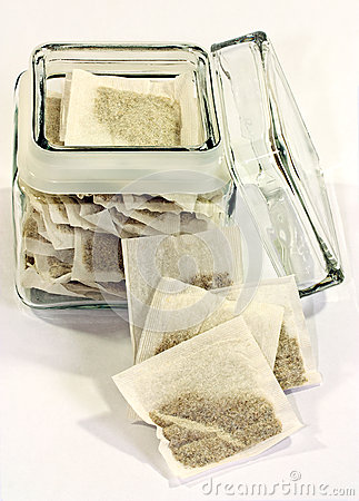 Tea bags in jar