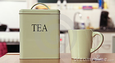 Tea box and cup