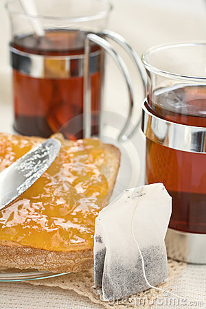 Tea bread and jam