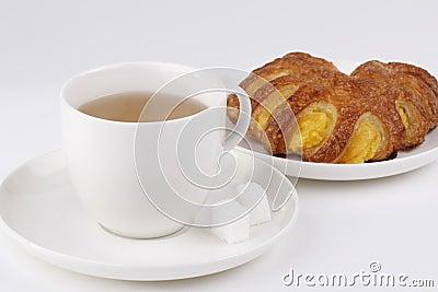 Tea and cake with banana jam