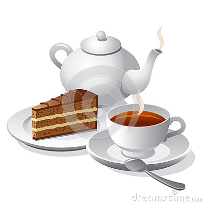 Coffee Cake Illustration