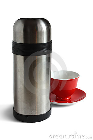 Tea cap and thermos.