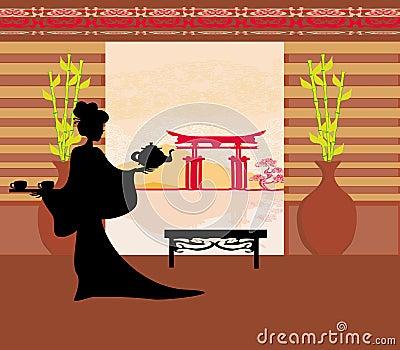 Tea ceremony of the geisha