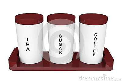 Tea, coffee and sugar cannisters