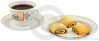 Tea cup and biscuits