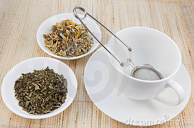 Tea cup and herbal teas