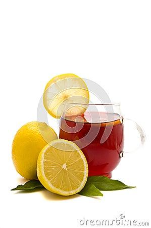 tea cup and lemons