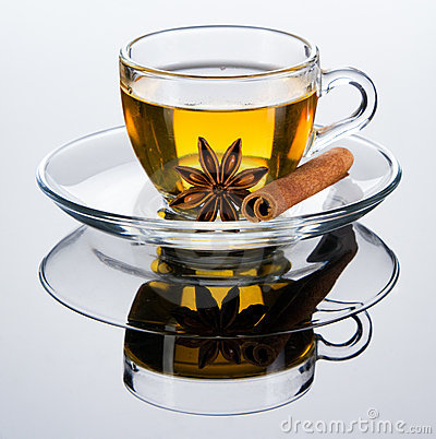 Tea cup with spice