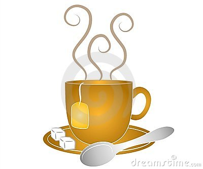 Tea Cup Spoon and Sugar