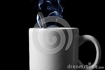 Tea cup with vapor trail