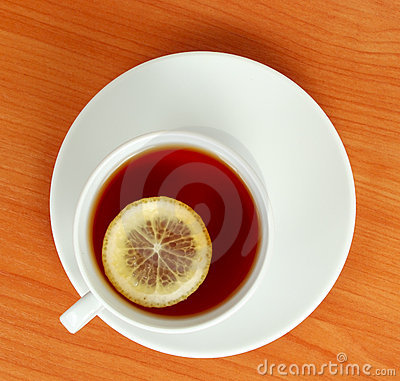 Free Tea Cup With Lemon Stock Images - 13735364