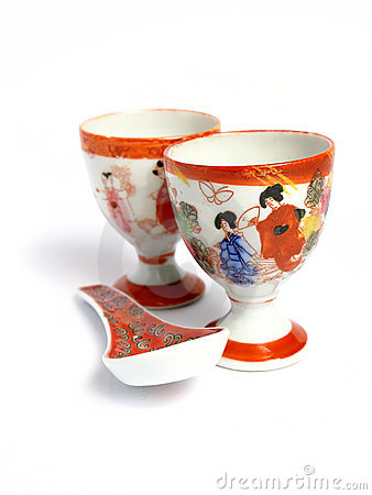 Tea cups and spoon from China