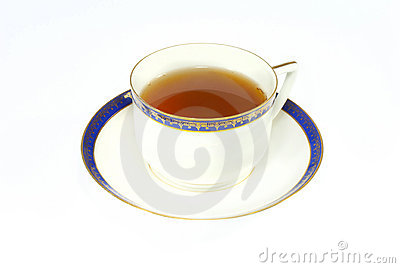 Tea in elegance classic porcelain cup isolated