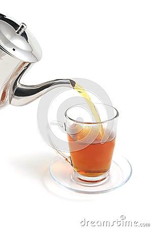 Tea flow to cup