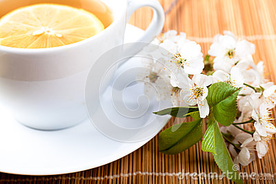 Tea with flower