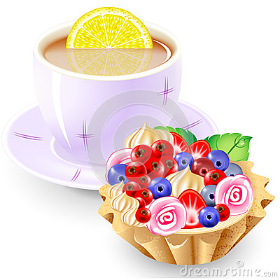 Tea and fruit basket