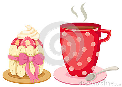 Tea with a gourmet cupcake