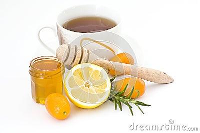 Tea, honey and lemon