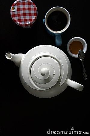 Tea, honey and sweets