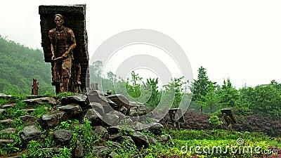 The Tea-horse ancient road's stone statue