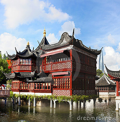 Free Tea House In Yu Garden Stock Image - 15502611