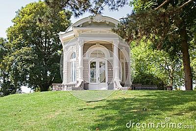 Tea house in park