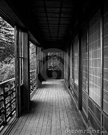 Tea house porch at Hakone Gardens