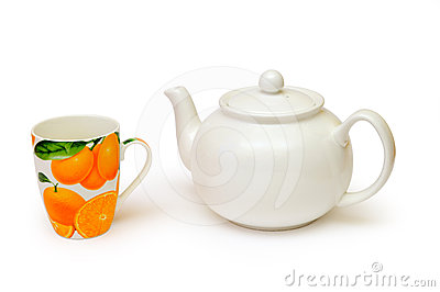 Tea kettle and tea cup
