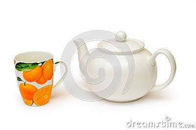 Tea kettle and tea cup