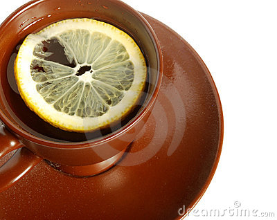 Tea with a lemon