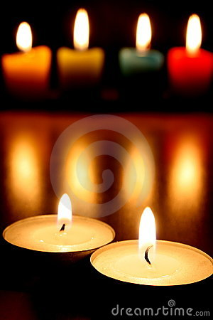 Free Tea Lights & Candles Royalty Free Stock Photo - 12105475