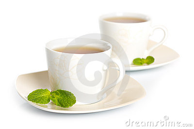Tea with mint