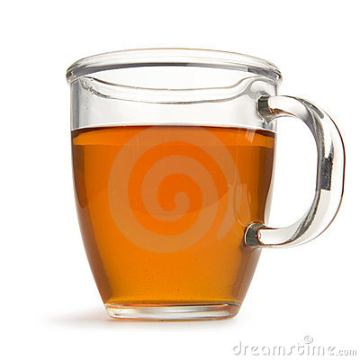 Tea in mug with clipping path