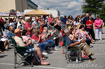 Tea Party Crowd Editorial Stock Photo