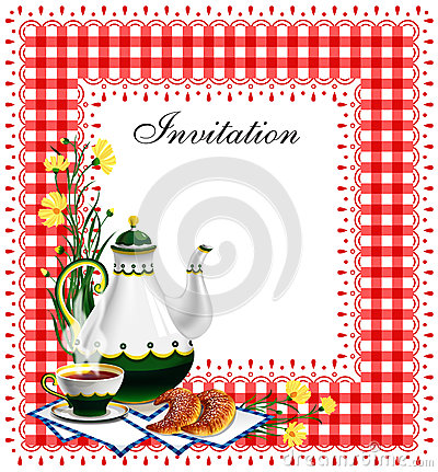 Free Tea Party Invitation Royalty Free Stock Images - 25567329