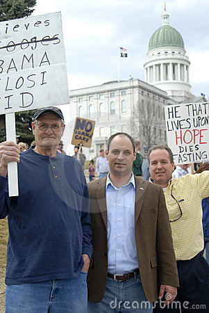 Tea Party Maine s Capital Editorial Stock Image