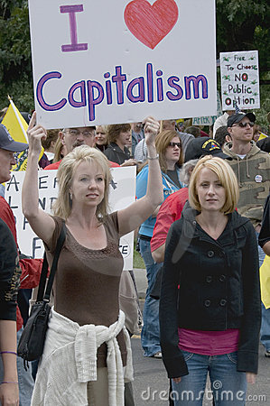 Tea Party Patriots Love Capitalism, Denver Editorial Stock Image