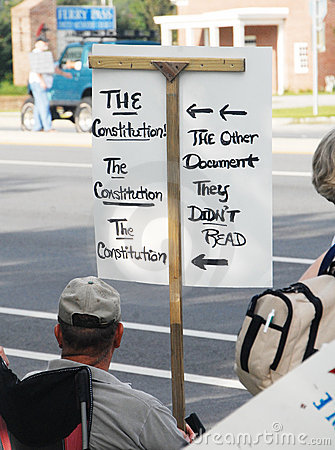 Tea Party Protesters Editorial Photography