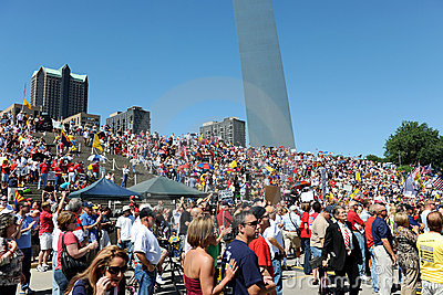 Tea Party Rally in Saint Louis Missouri Editorial Photo
